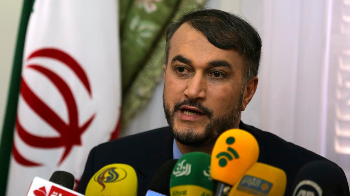 Hossein Amir-Abdollahian speaks during a news conference in Cairo. (File photo: Reuters)