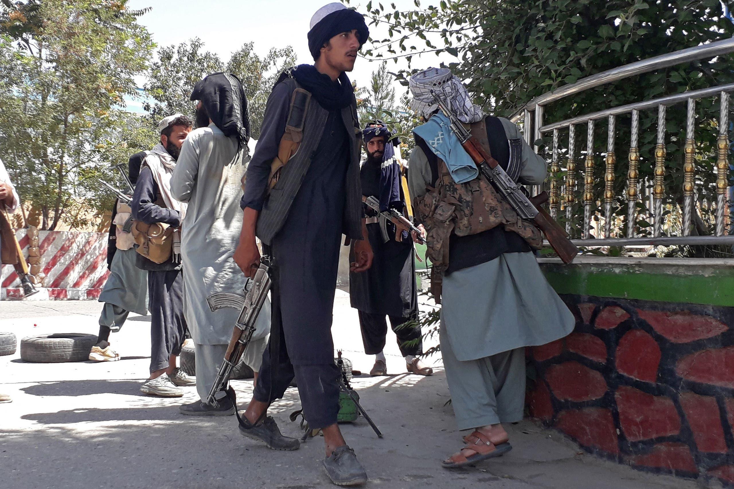 مقاتلون من طالبان في غزنة اليوم