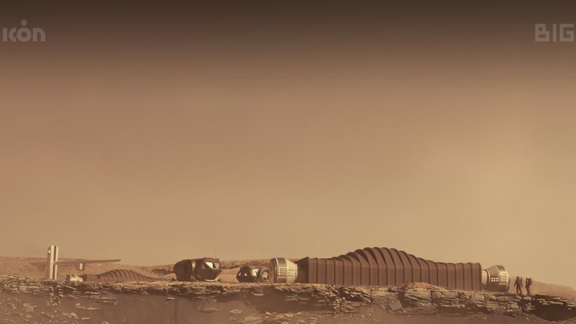 Mars Dune Alpha Conceptual Render: Visualization on Mars. (Photo Credit: ICON via Nasa.gov)