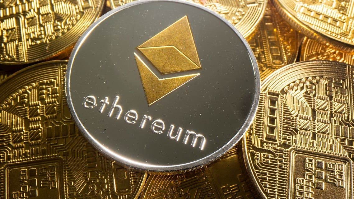 A representation of cryptocurrency Ethereum is seen in this illustration taken August 6, 2021. (Reuters)