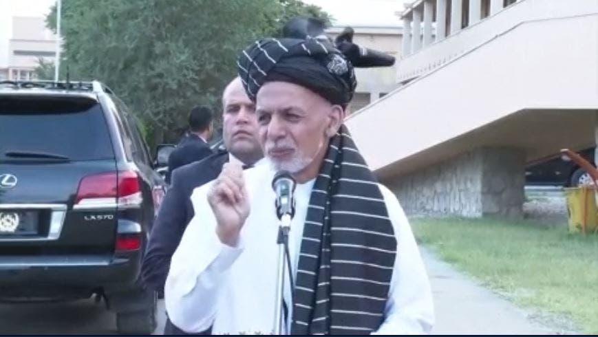 اشرف غنی رئیس جمهور افغانستان در مزار شریف