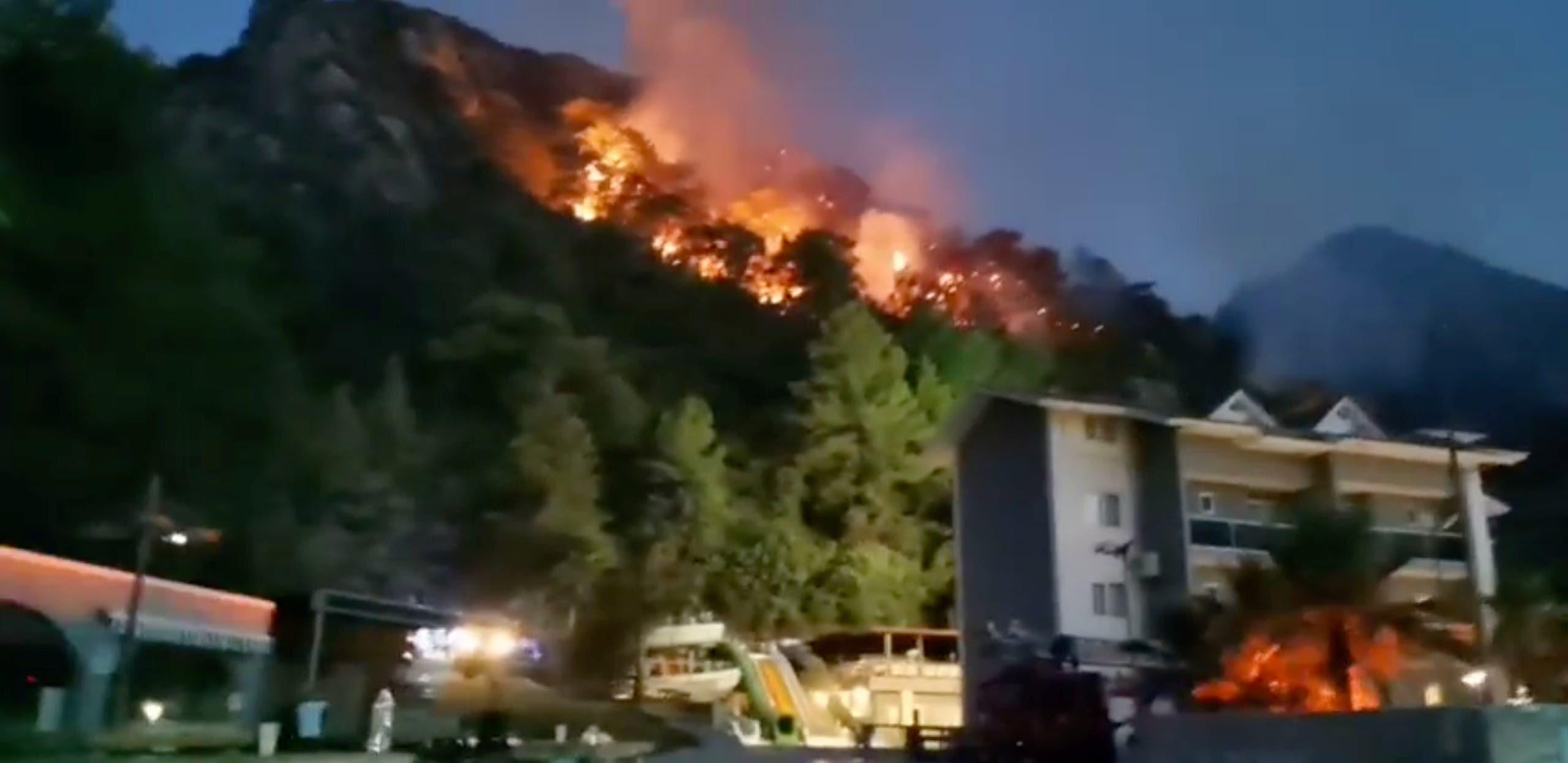الحرائق في ماركاريس