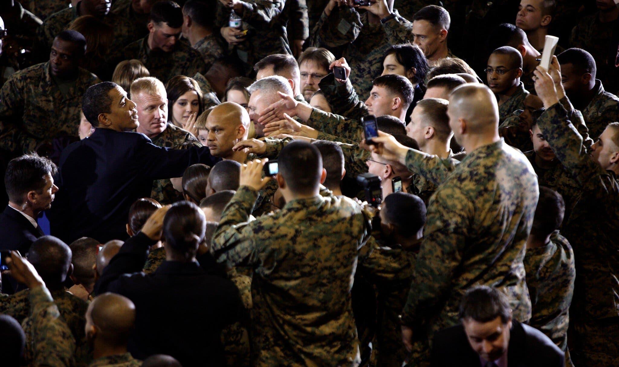 """الرئيس أوباما أعلن الانسحاب من العراق في 2009 """"أرشيفية"""""""
