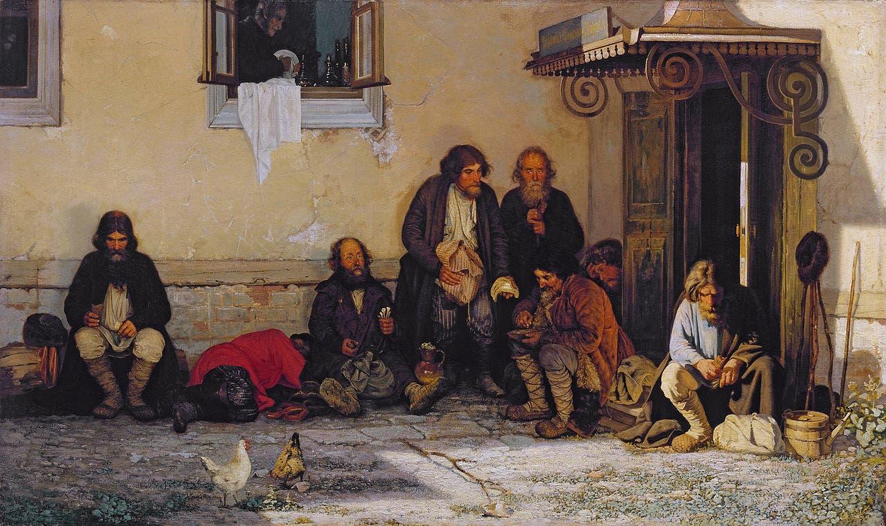 لوحة تجسد عدداً من أعضاء أحد المجالس المحلية أثناء تناولهم الطعام