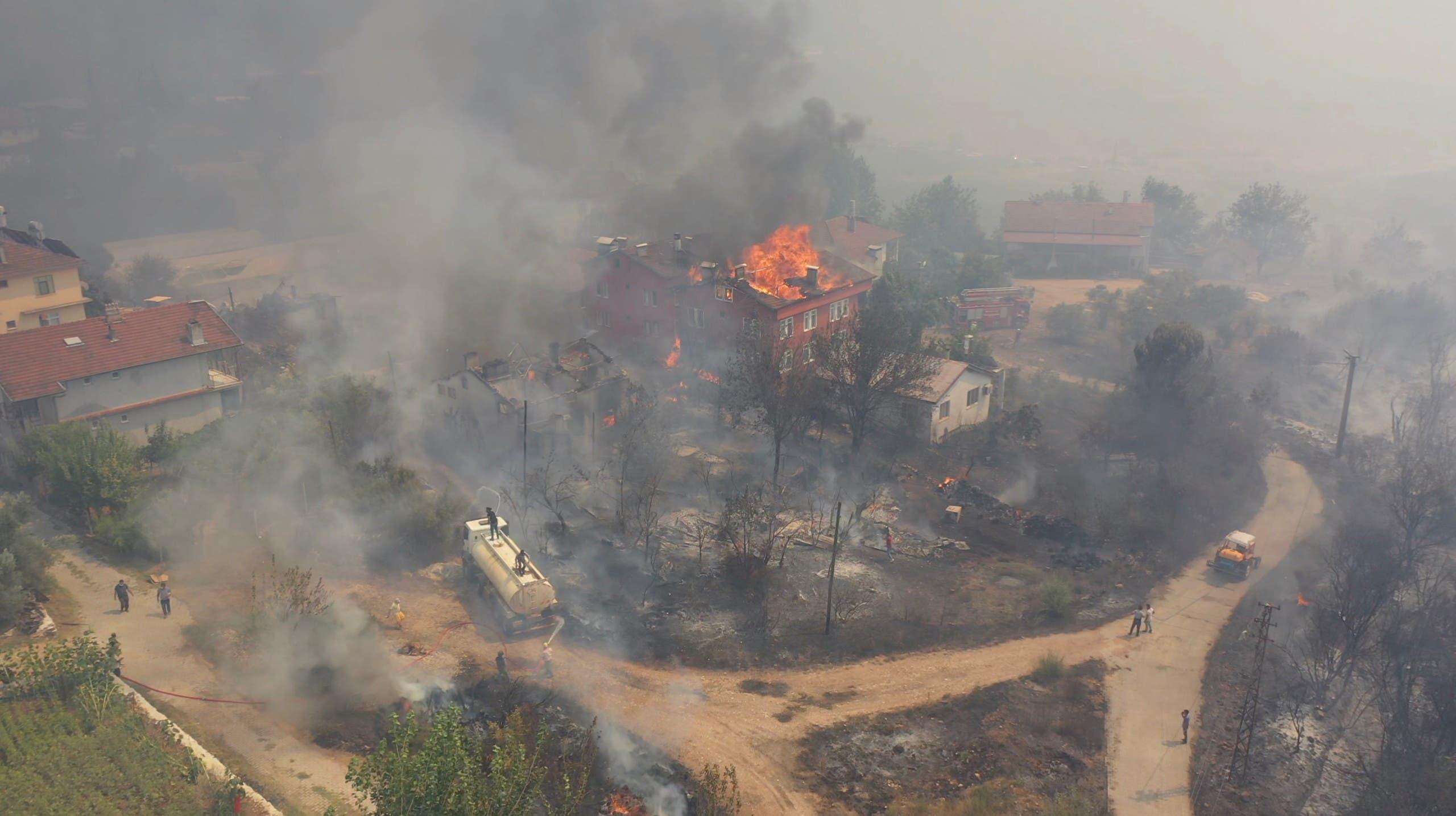 الحرائق في إسبارتا