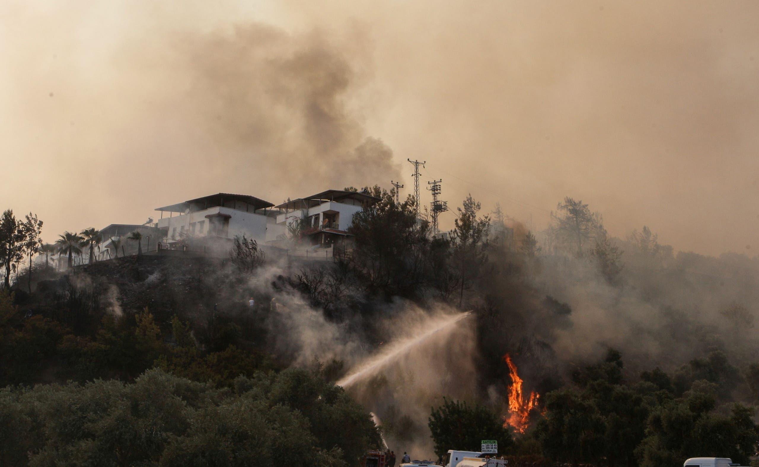 الحرائق في بودروم