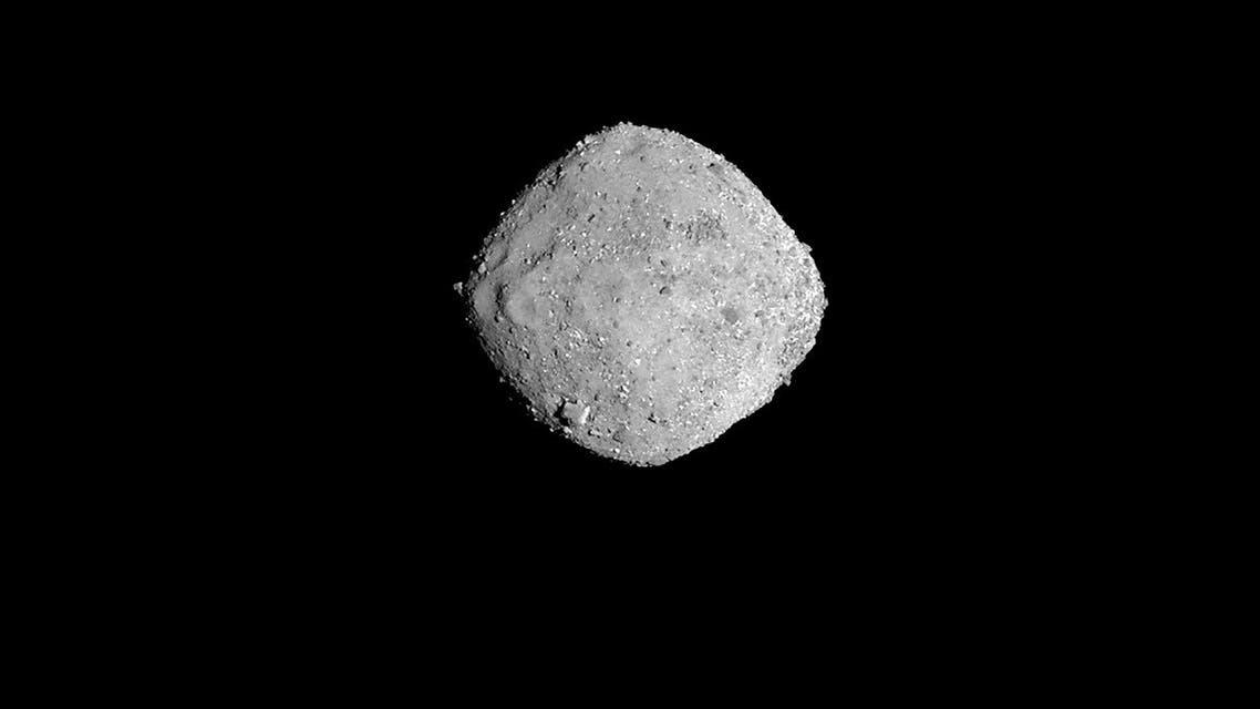 This November 16, 2018 photo from NASA's OSIRIS-REx spacecraft, obtained December 3, 2018 courtesy of NASA/Goddard/University of Arizona, shows the asteroid Bennu from a distance of 85 miles (136 km). (HO/NASA/Goddard/University of Arizona/AFP)