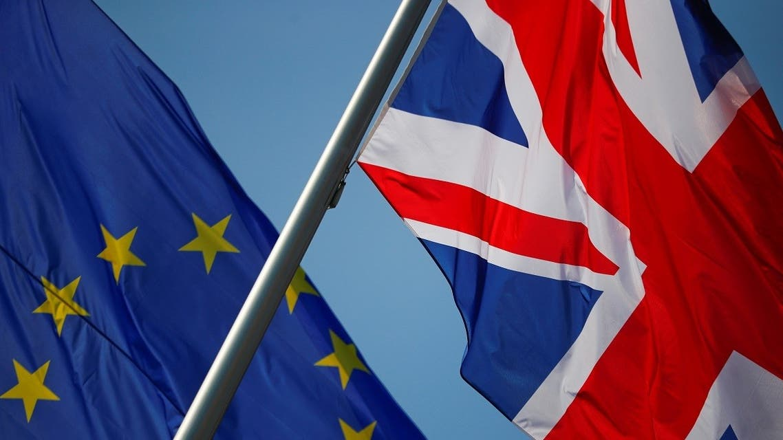 European Union and British flags. (Reuters)