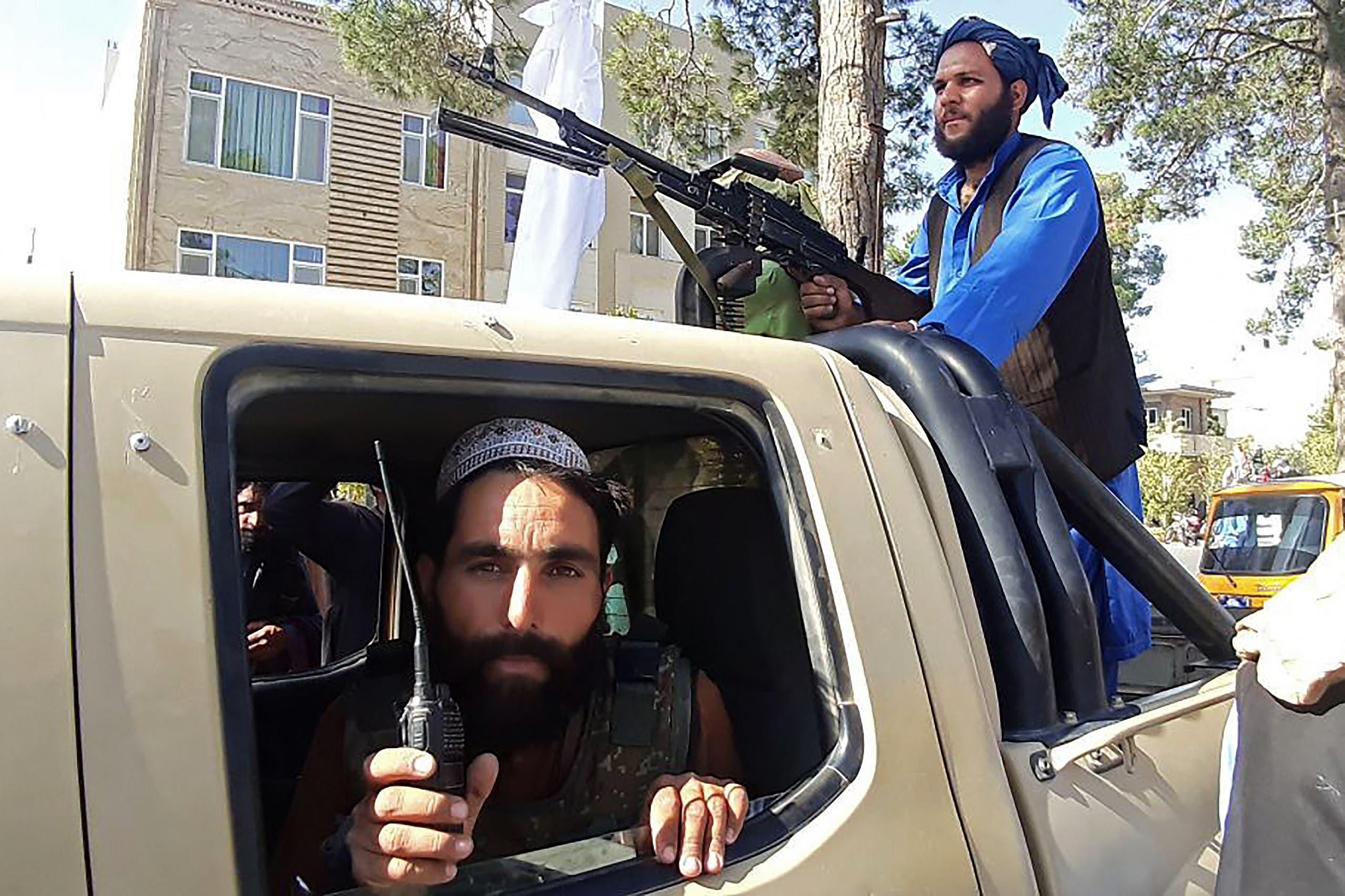 مقاتلون من طالبان في هرات اليوم