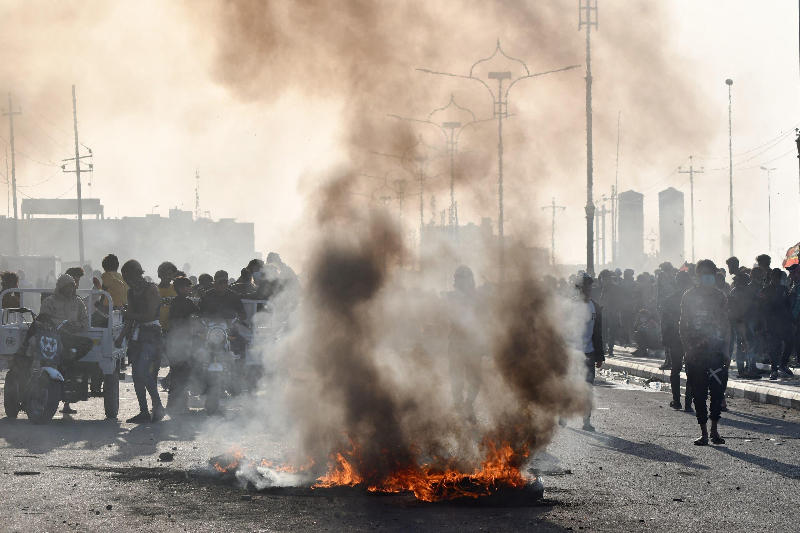 احتجاجات سابقة في ذي قار في فبراير الماضي