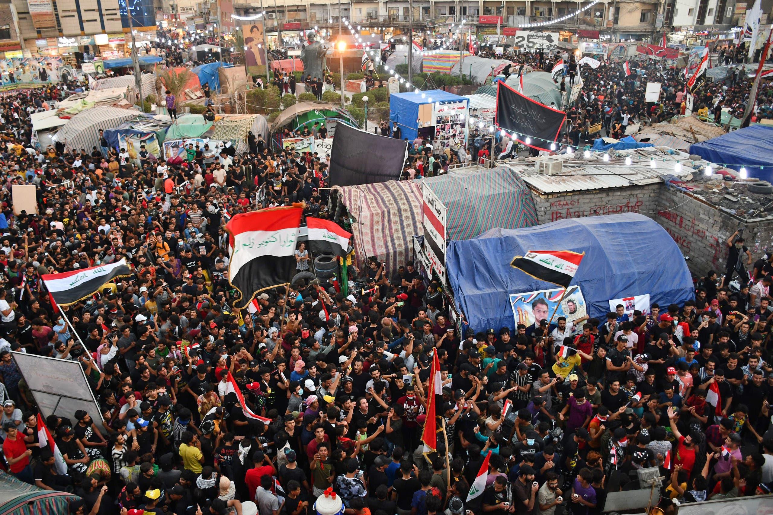 احتجاجات سابقة في ذي قار في اكتوبر الماضي