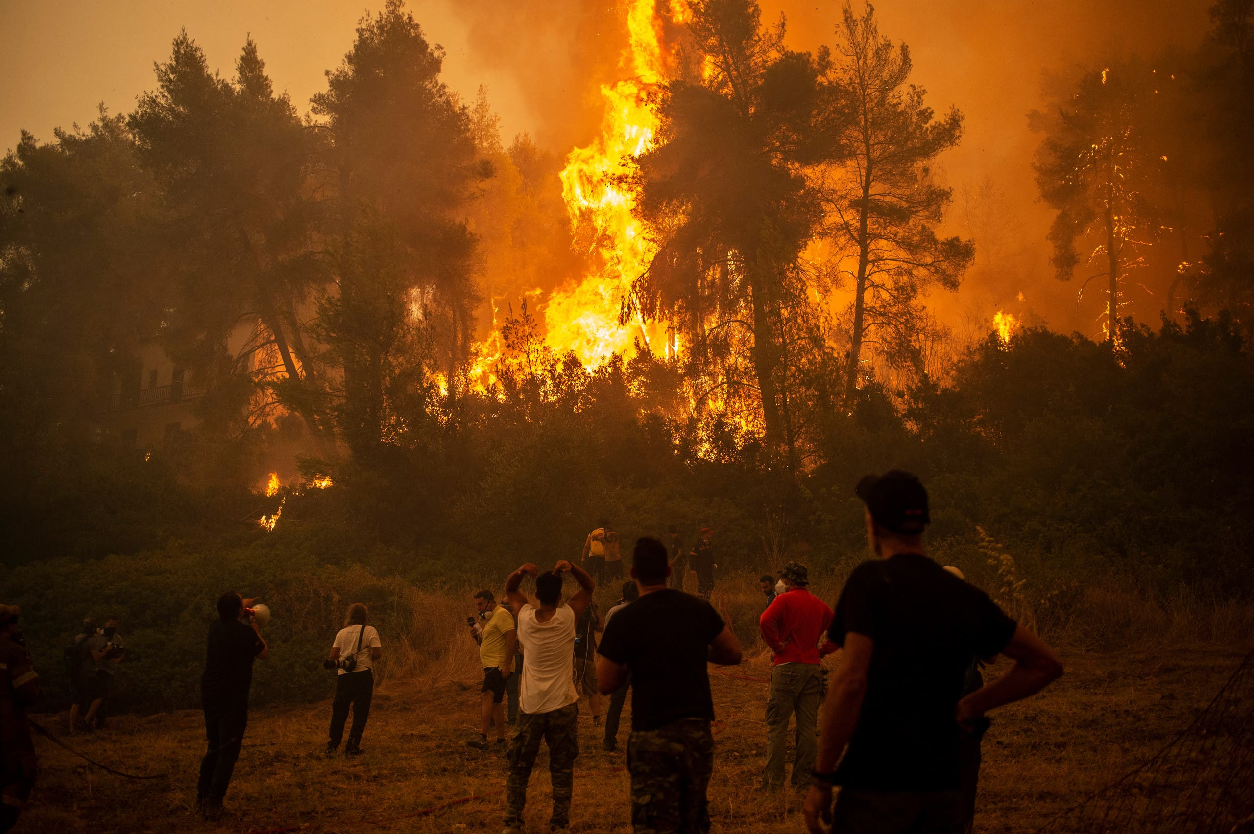 من حرائق الأسبوع الماضي في اليونان