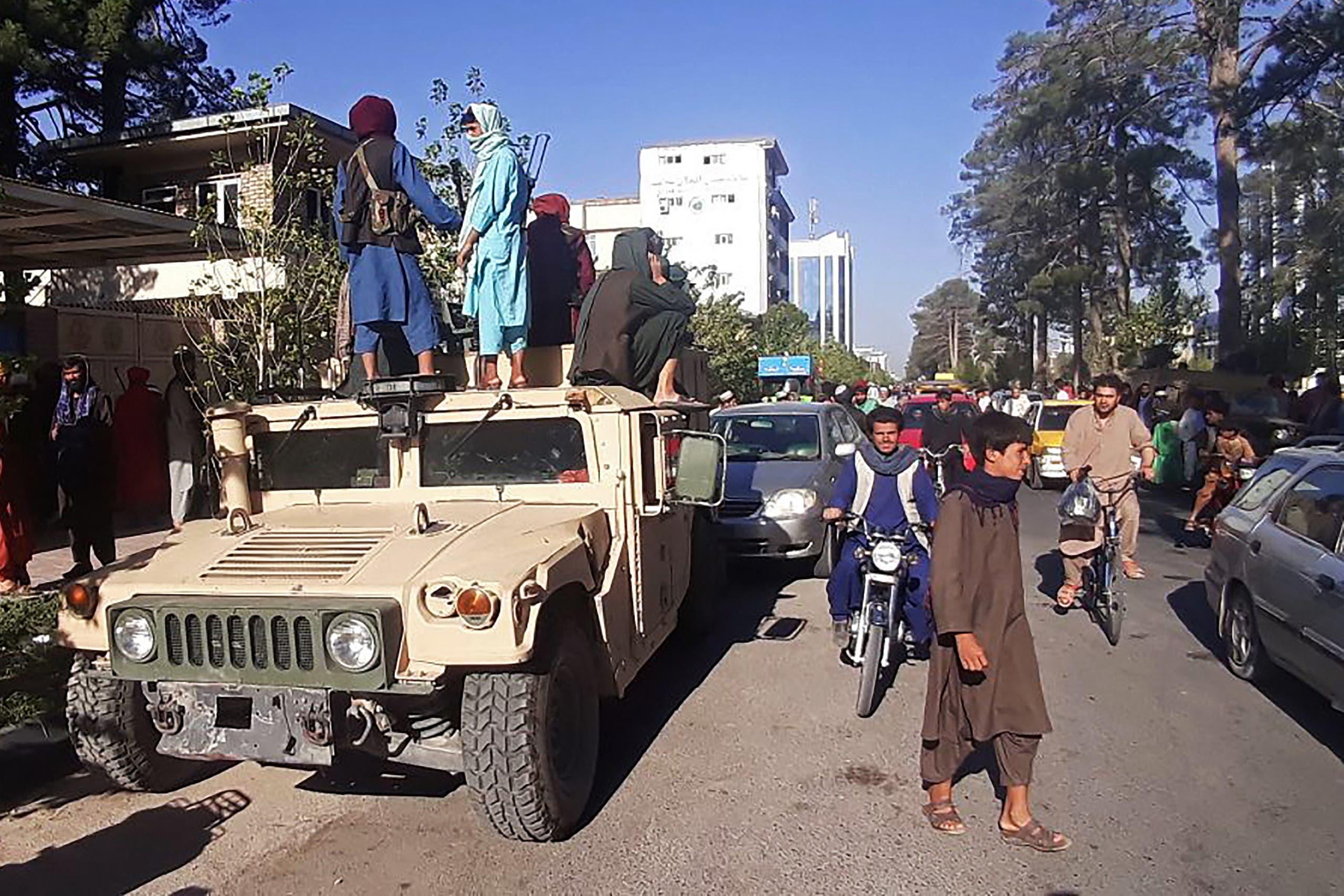 عناصر من طالبان في هرات اليوم