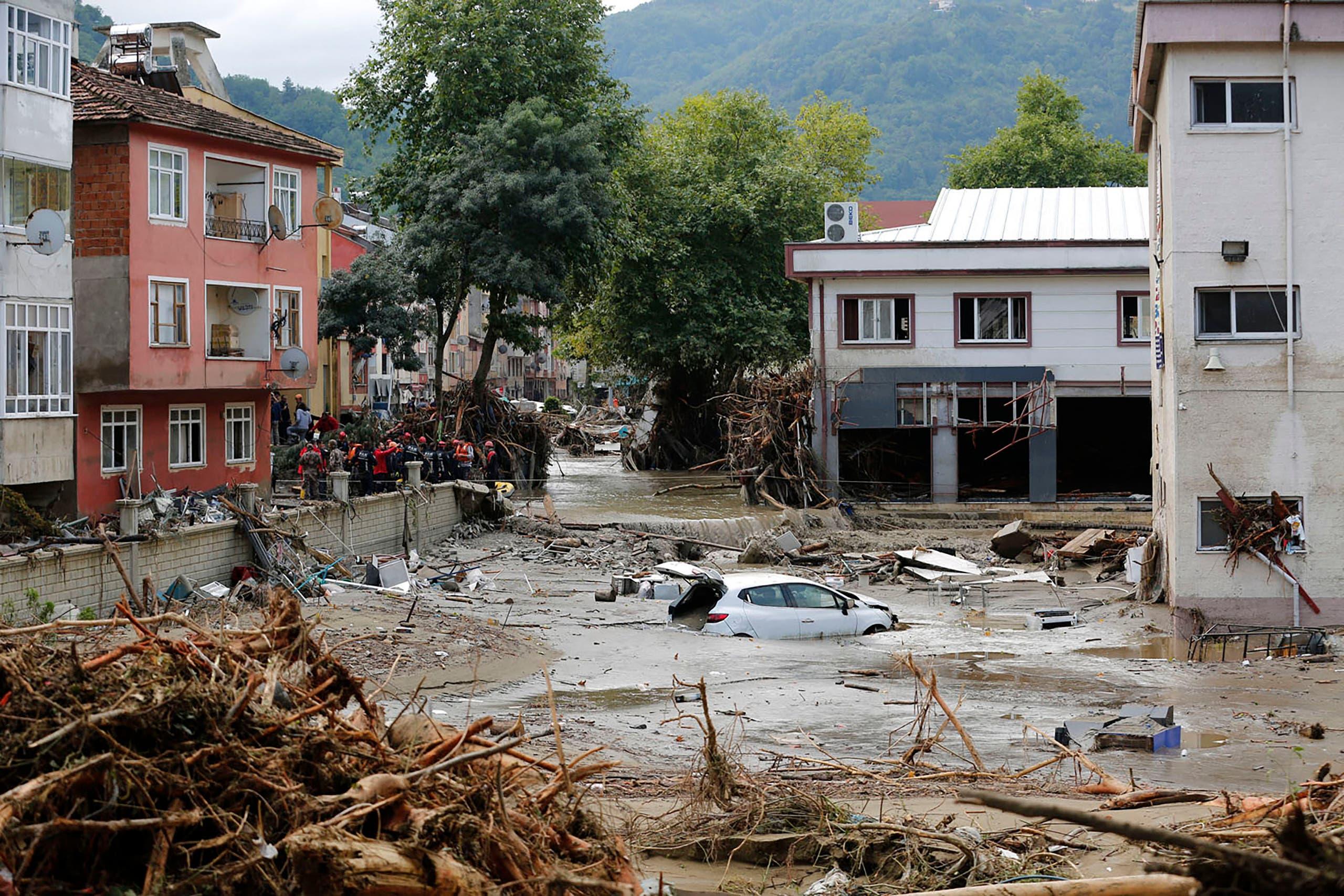 السيول في شمال تركيا