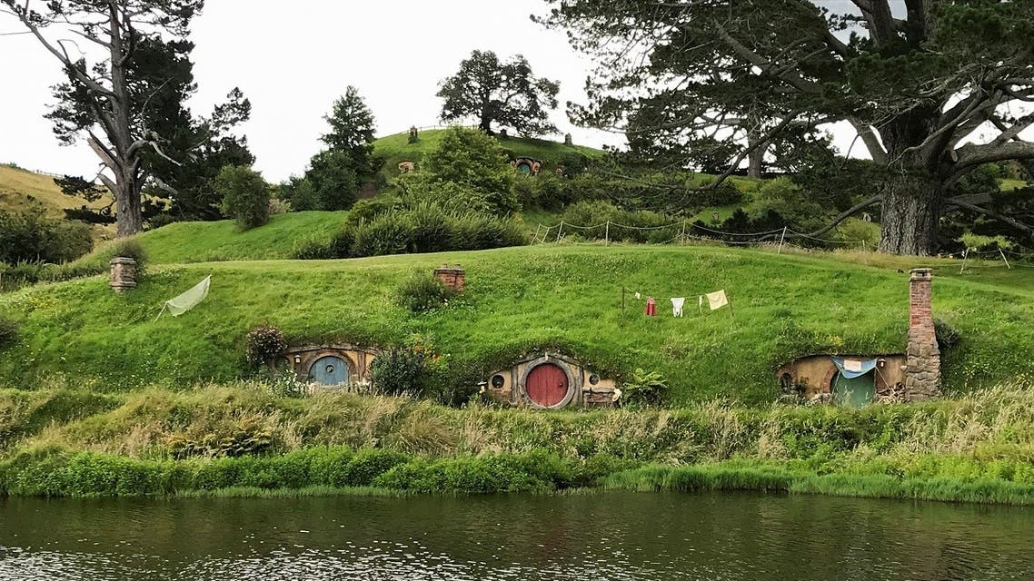 The Hobbiton Movie Set, a location for The Lord of the Rings and The Hobbit film trilogy, is pictured in Matamata, New Zealand, on December 27, 2020. (Reuters)