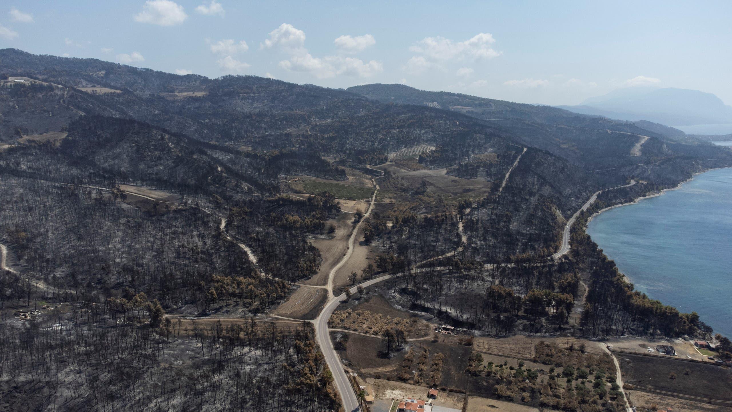 مساحات حرجية دمرتها الحرائق في اليونان