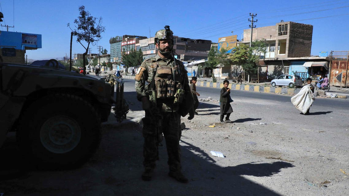 An Afghan security force personnel stands guard along the roadside in Herat on August 12, 2021, as Taliban took over the police headquarters in Herat, Afghanistan's third-largest city and also seized another key district capital just 150 kilometres (95 miles) from capital Kabul. (File photo: AFP)