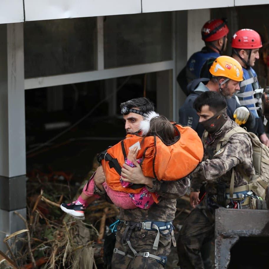 أردوغان يعلن 3 ولايات في تركيا مناطق منكوبة بسبب الفيضانات