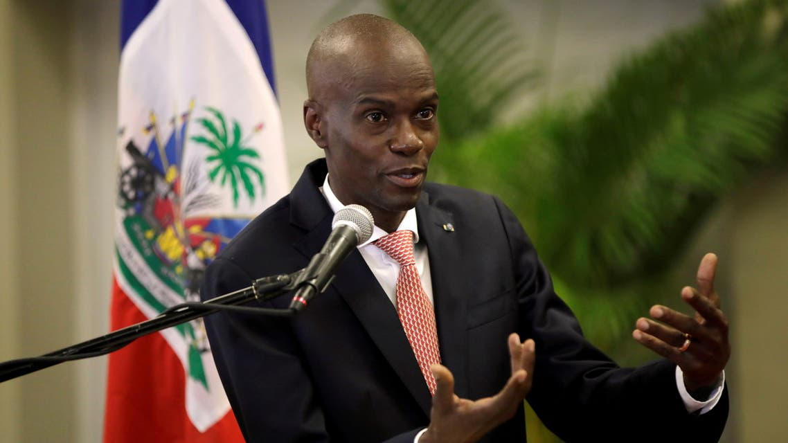 FILE PHOTO: Haiti's President Jovenel Moise speaks during a news conference to provide information about the measures concerning coronavirus, at the National Palace in Port-au-Prince, Haiti March 2, 2020. REUTERS/Andres Martinez Casares/File Photo