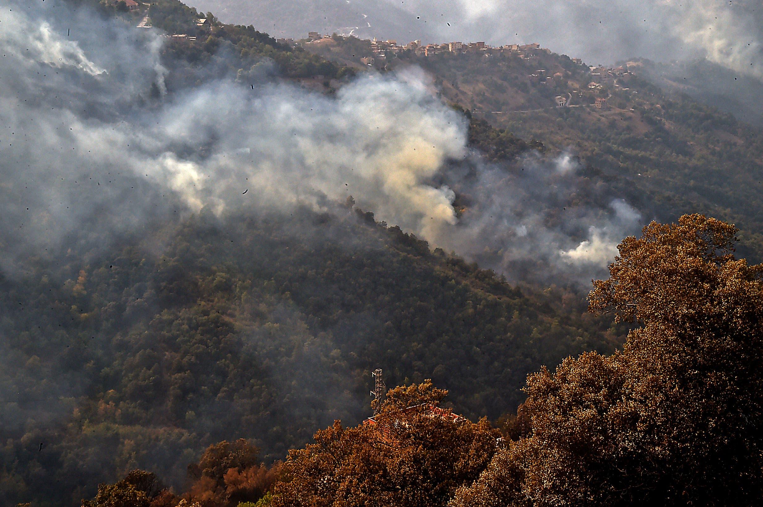 من حرائق الأمس في شمال الجزائر
