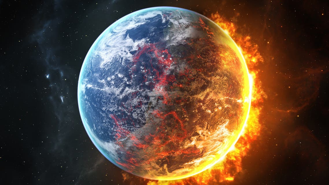احتراق عالمي درجة حرارة الأرض