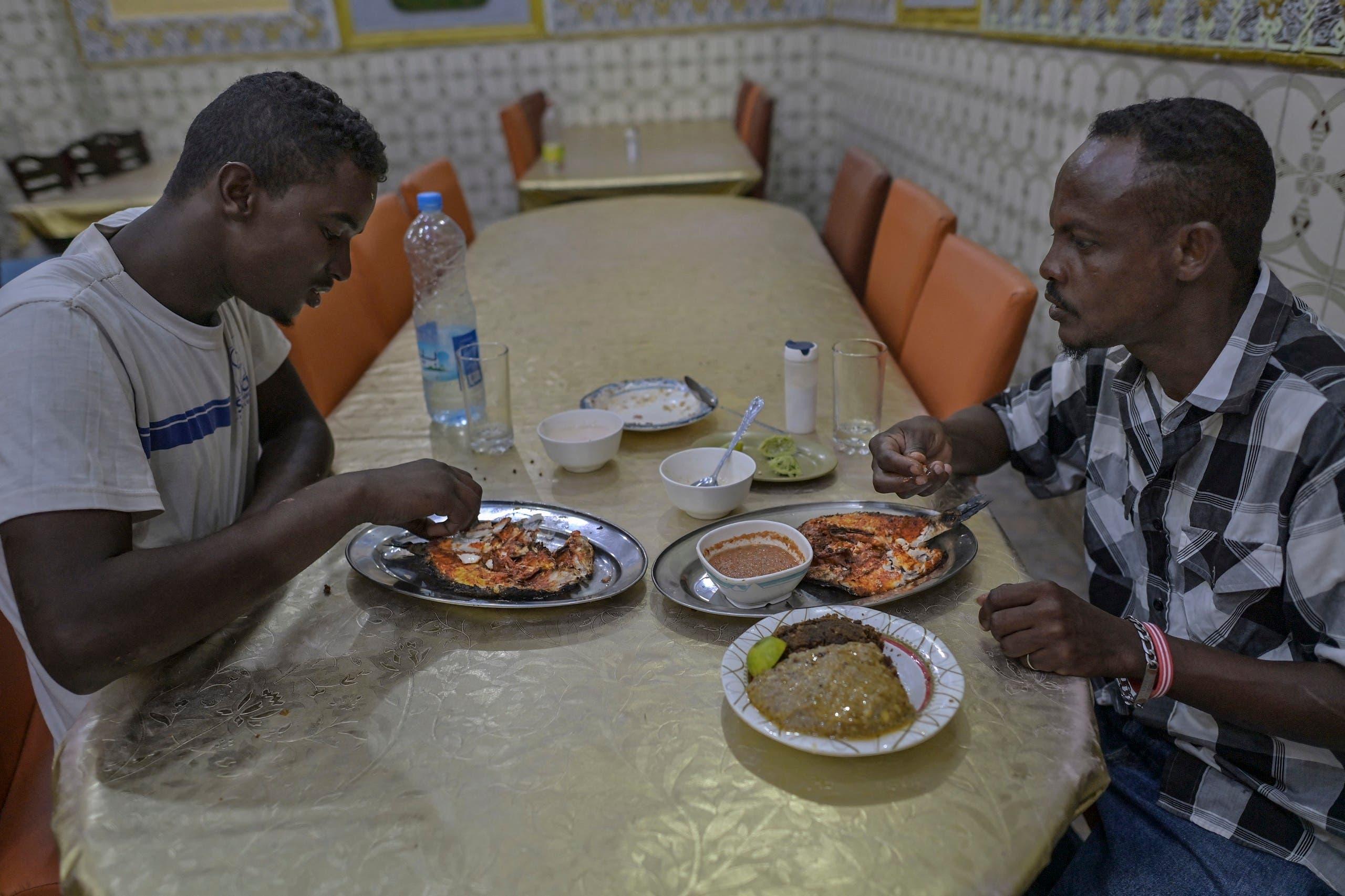 السمك اليمني في أحد مطاعم جيبوتي