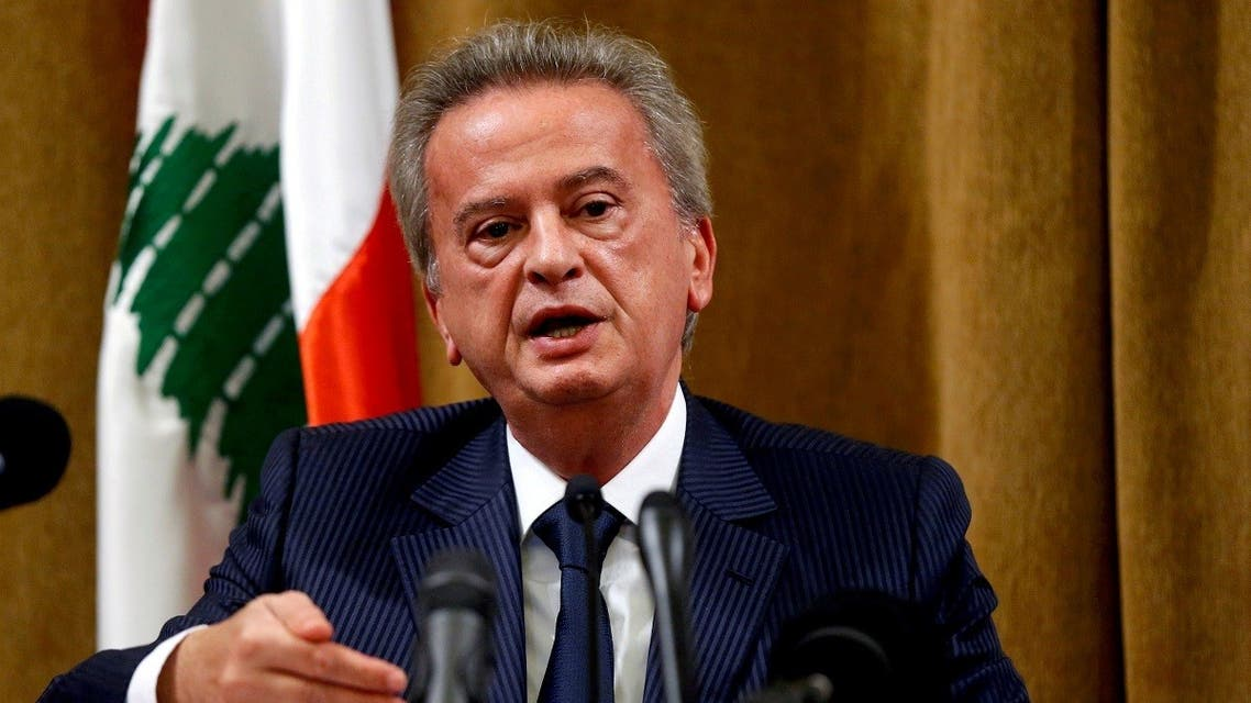 Lebanon's Central Bank Governor Riad Salameh speaks during a news conference at Central Bank in Beirut, Lebanon, November 11, 2019. (Reuters/Mohamed Azakir)