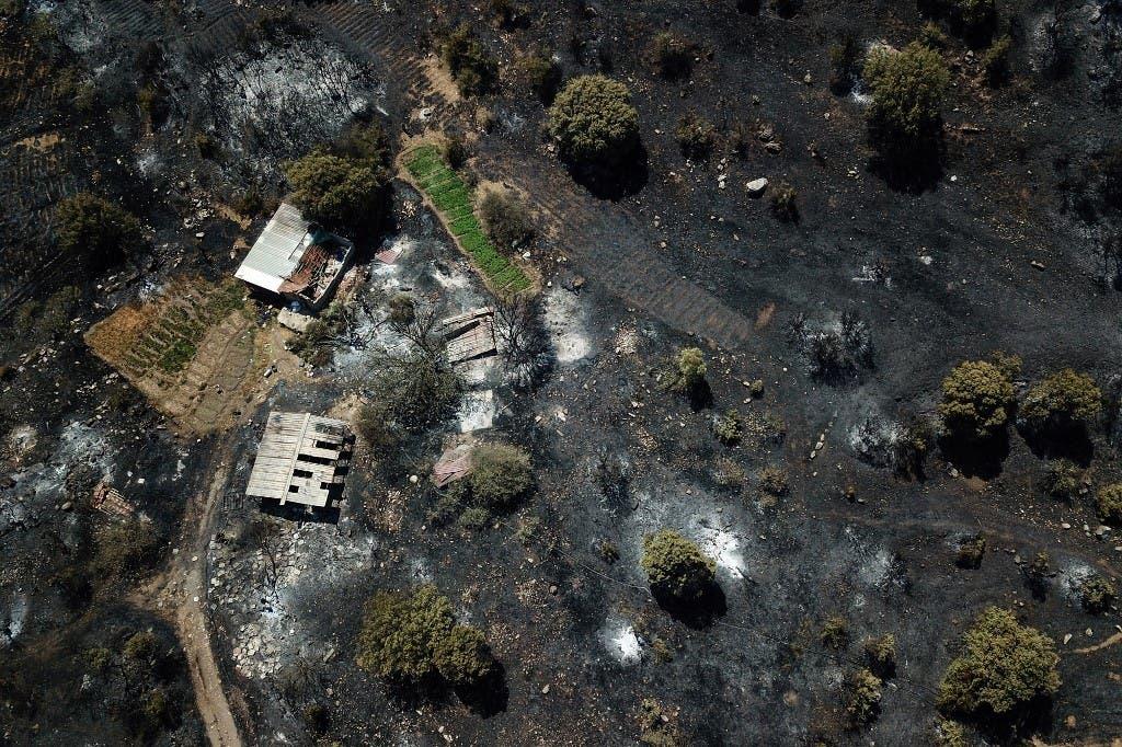 صورة تظهر آثار الحرائق في تركيا - في ولاية موغلا