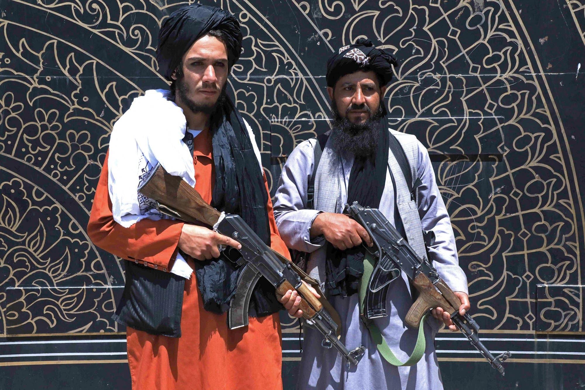 عناصر من طالبان في هرات يوم 14 أغسطس (فرانس برس)