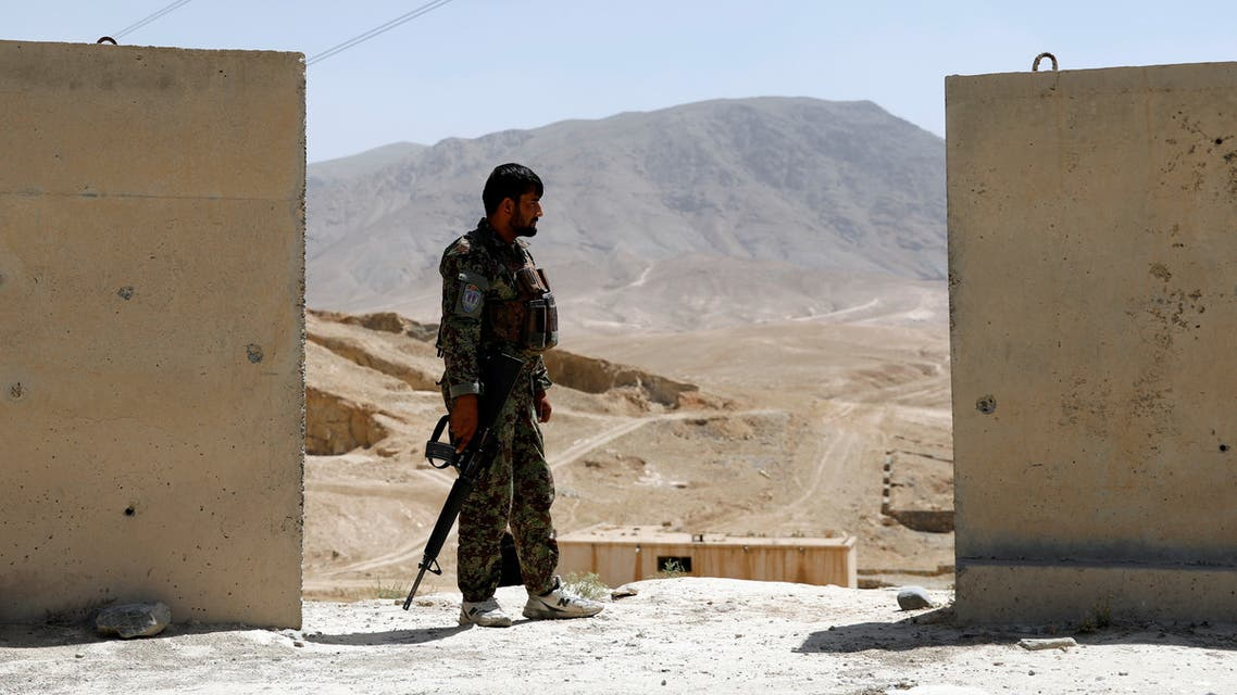 File photo of an Afghan National Army (ANA) soldier keeping watch at a checkpoint on the Ghazni highway, in Wardak province, Afghanistan August 12, 2018. (Reuters)