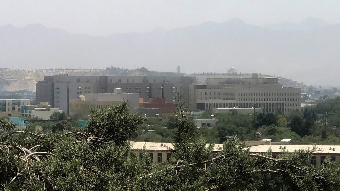 منظر عام للسفارة الأميركية في كابل (رويترز)