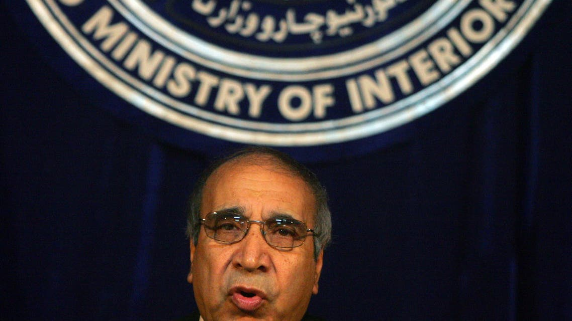 Afghan Interior Minister Ali Ahmad Jalali speaks during a news conference in Kabul, Afghanistan September 28, 2005. (File photo: Reuters)