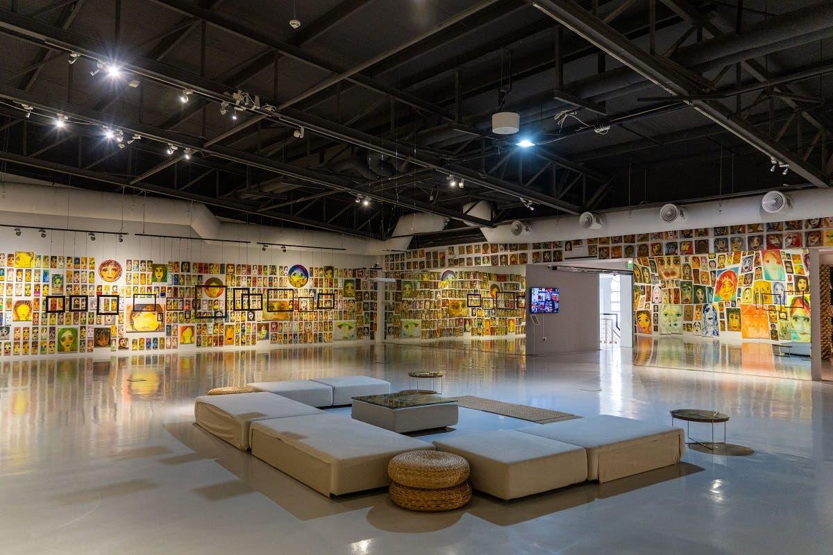 Installation view of 'Malamih – Faces, Phantoms, Expressions' at Maraya Art Centre.