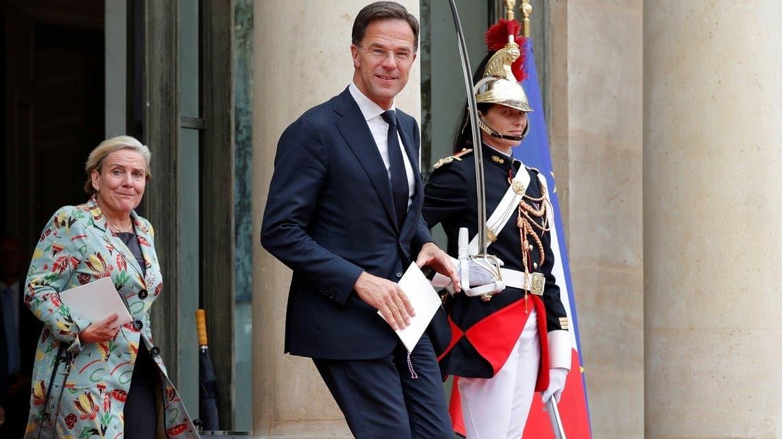 File photo of Dutch Prime Minister Mark Rutte and Dutch Defense Minister Ank Bijleveld. (Reuters)
