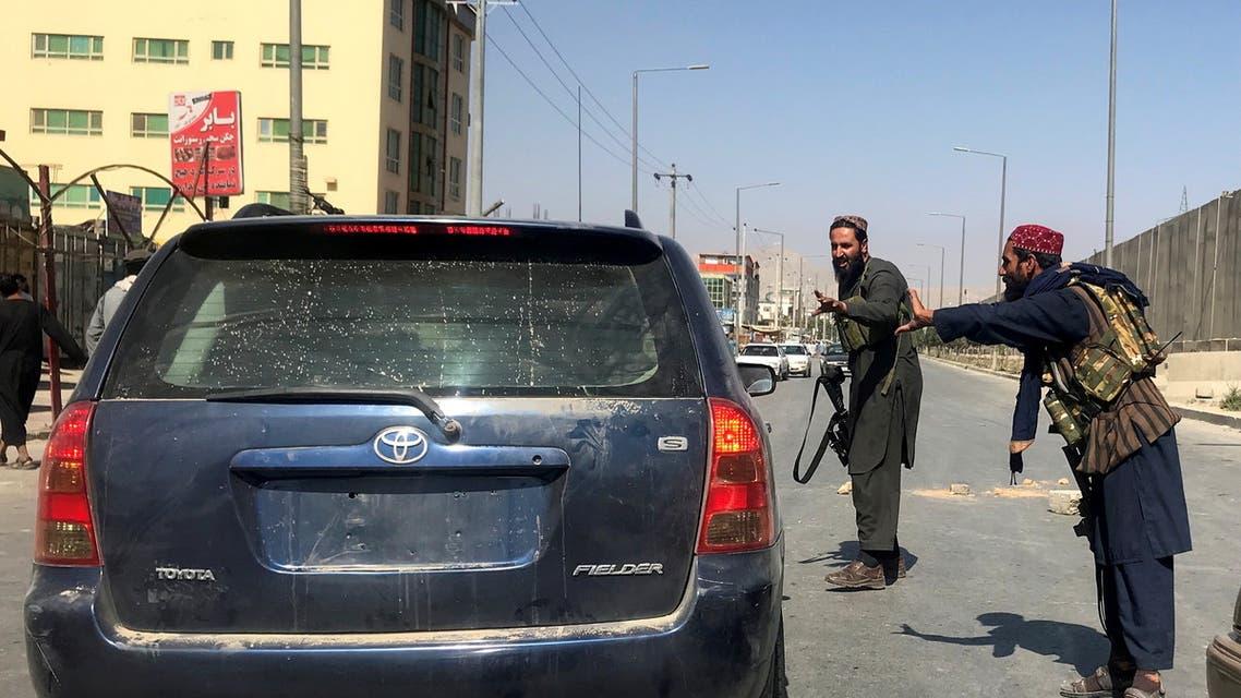 عناصر من طالبان في كابل (رويترز)