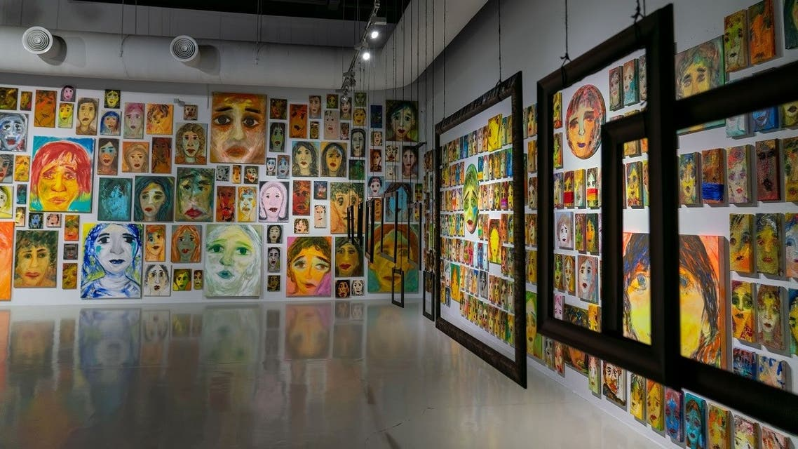 'Malamih – Faces, Phantoms, Expressions,' the exhibition by Emirati artist Nujoom Alghanem at Sharjah's Maraya Art Centre. (Supplied)