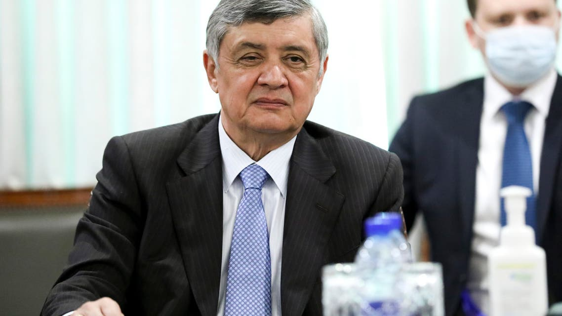 In this handout photo released by Russian Foreign Ministry Press Service, Special Representative of the President of the Russian Federation on Afghanistan Zamir Kabulov attends the talks between Russian Foreign Minister Sergey Lavrov and Pakistani Foreign Minister Shah Mahmood Qureshi in Islamabad, Pakistan, Wednesday, April 7, 2021. (File photo: AP)