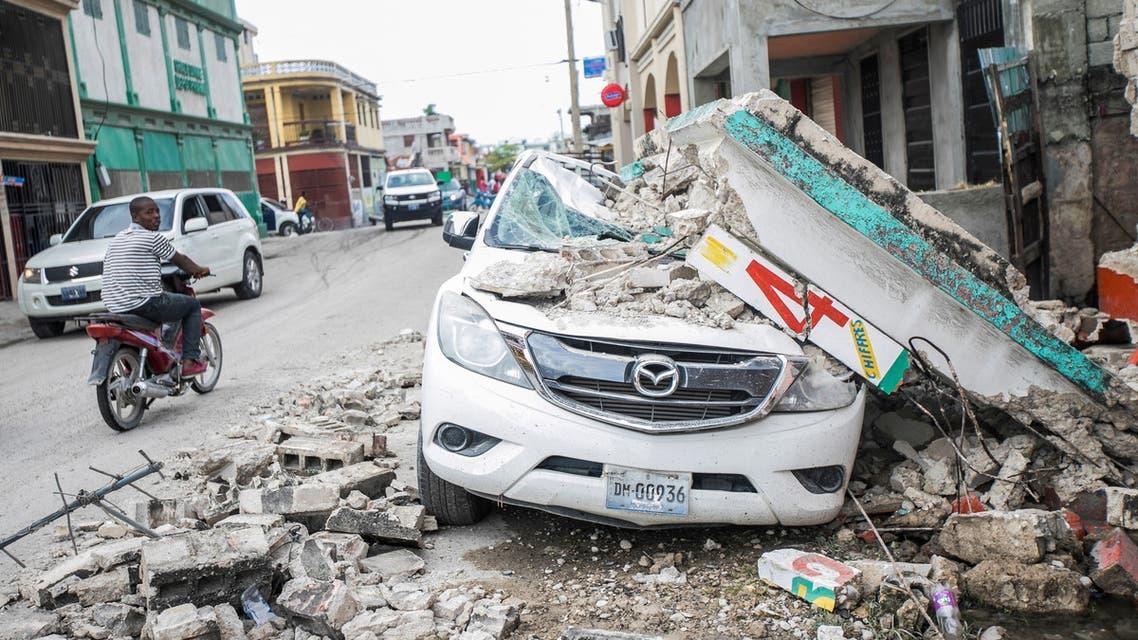 الدمار الذي خلفه الزلزال في هايتي (رويترز)
