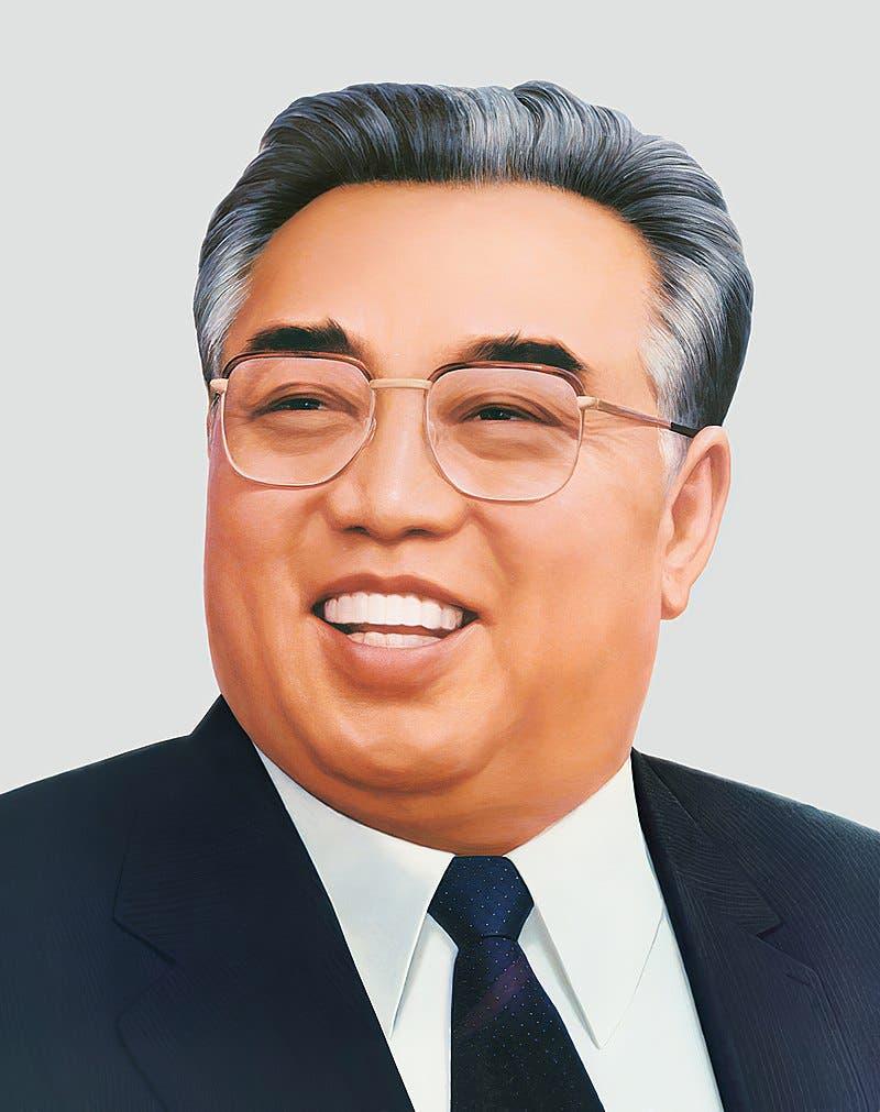 لوحة لزعيم كوريا الشمالية كيم إيل سونغ