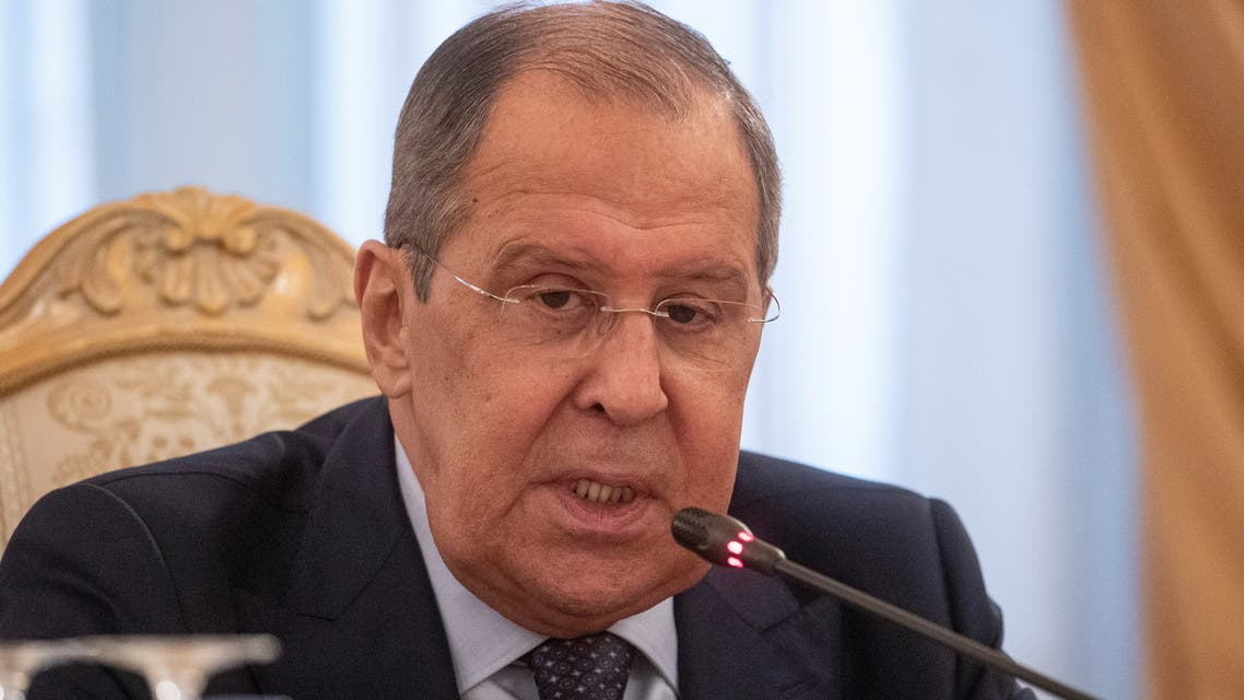 Russian Foreign Minister Sergei Lavrov speaks with Nicaraguan Foreign Minister Denis Moncada Colindres during their meeting in Moscow, Russia, July 19 2021. Sergei Ilnitsky/Pool via REUTERS