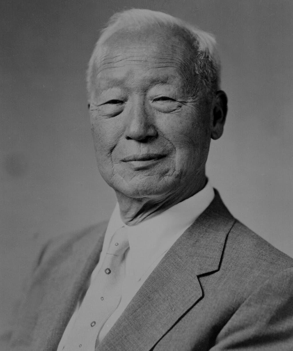 صورة لرئيس كوريا الجنوبية سينغمان ري