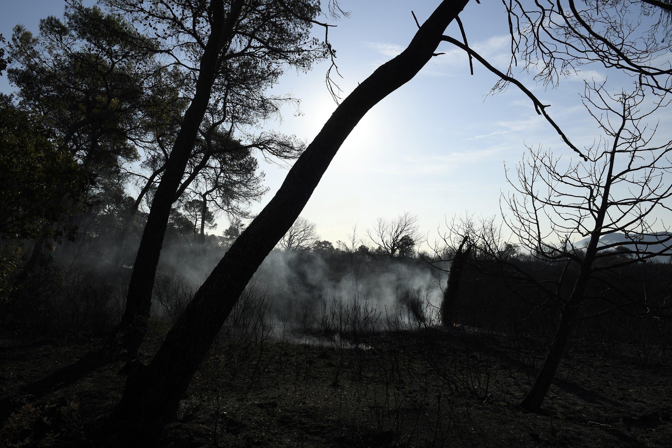 الدخان يتصاعد من حرائق فرنسا