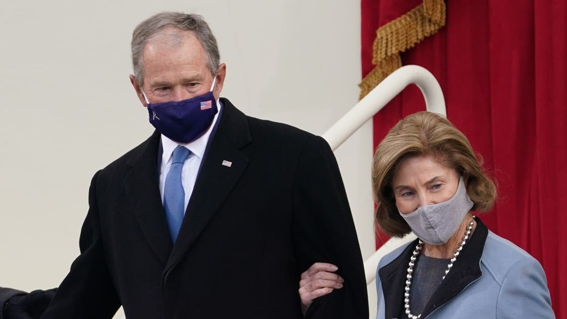 Former US President George W. Bush and his wife Laura Bush arrive for the inauguration of Joe Biden as the 46th President of the United States on the West Front of the US Capitol in Washington, US, January 20, 2021. (File photo: Reuters)