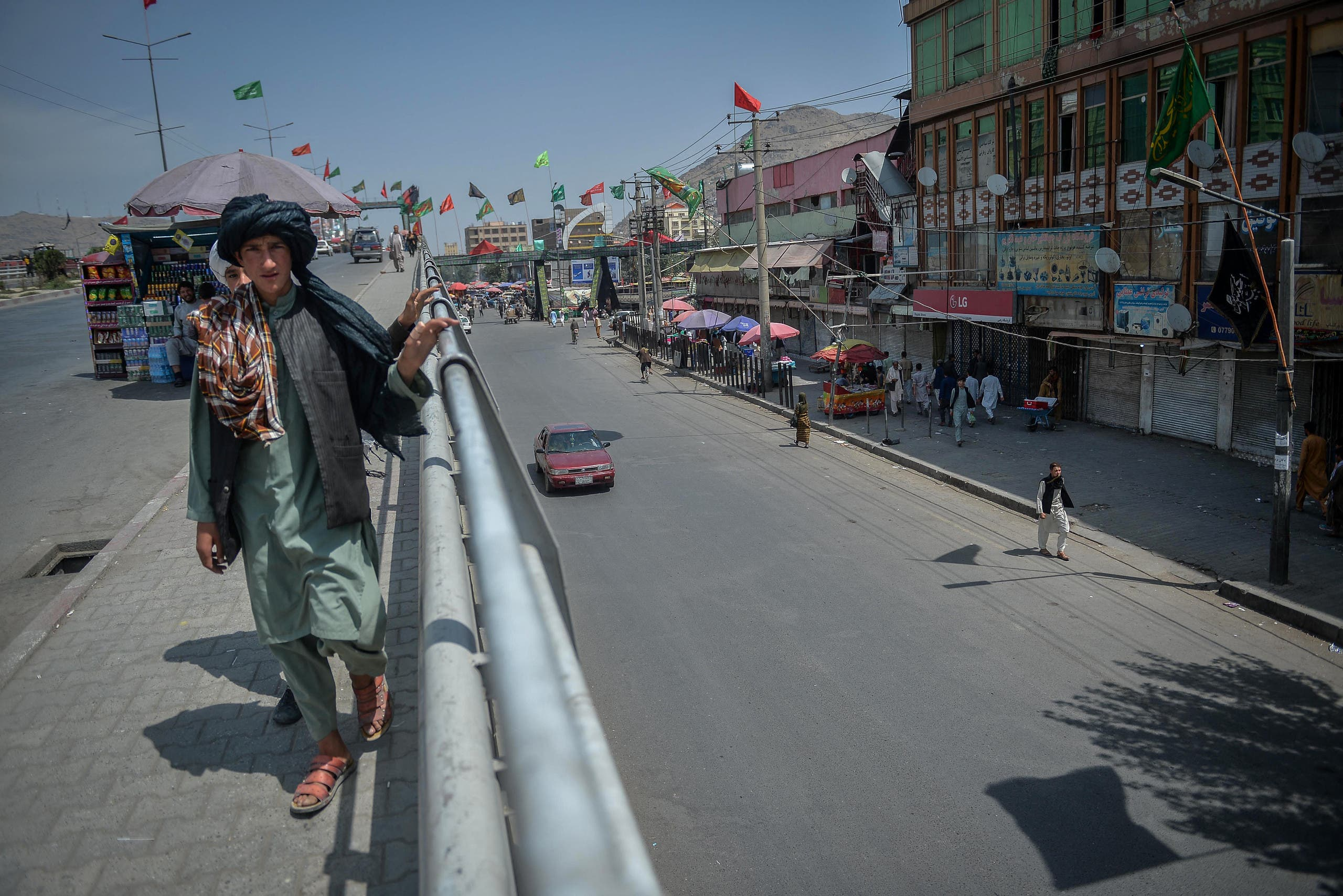أسواق مغلقة في كابل اليوم