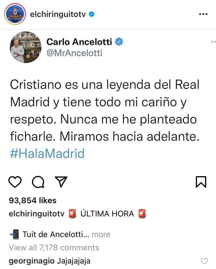 رد صديقة رونالدو