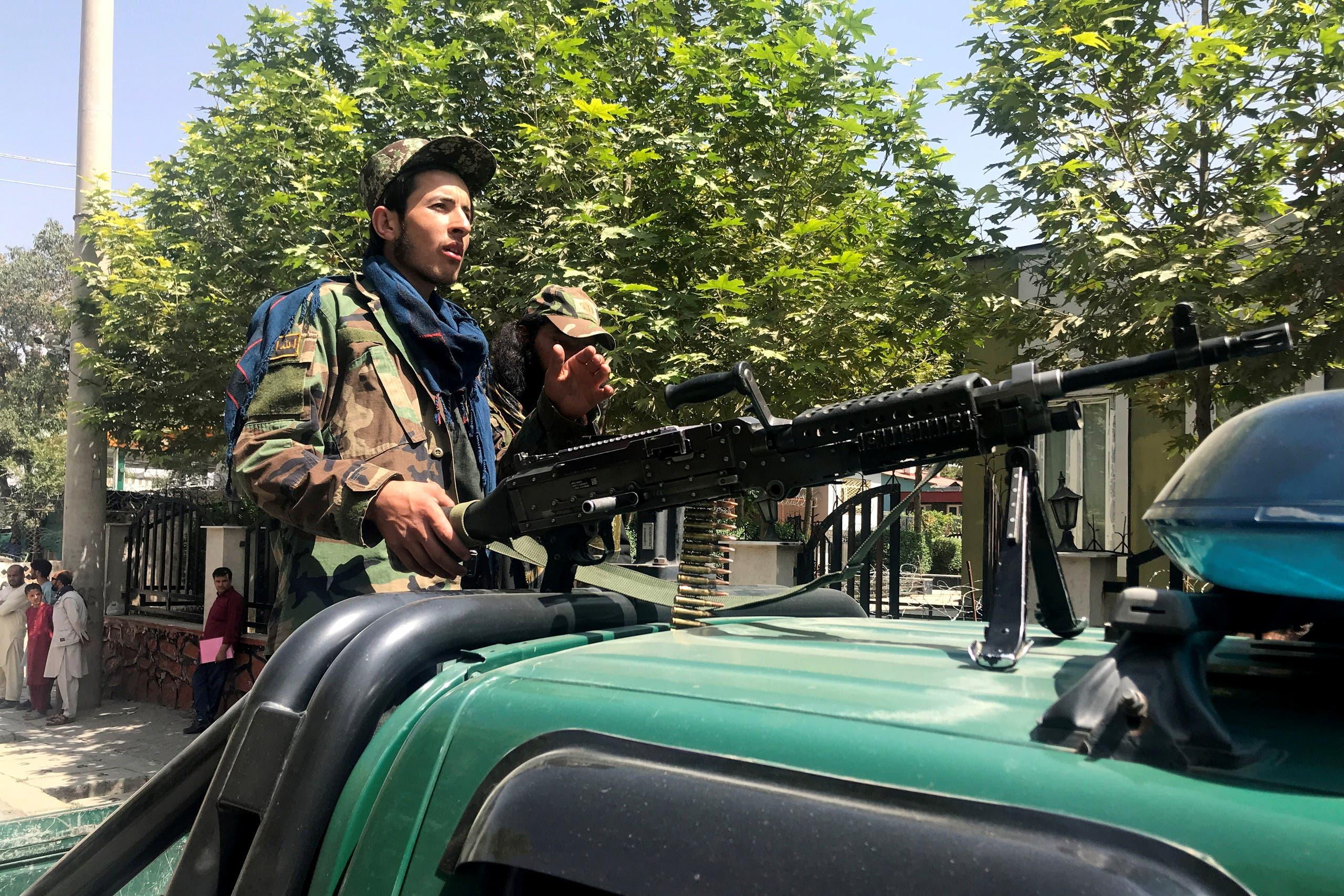 Taliban forces patrol in Kabul, Afghanistan, August 16, 2021. (Reuters)