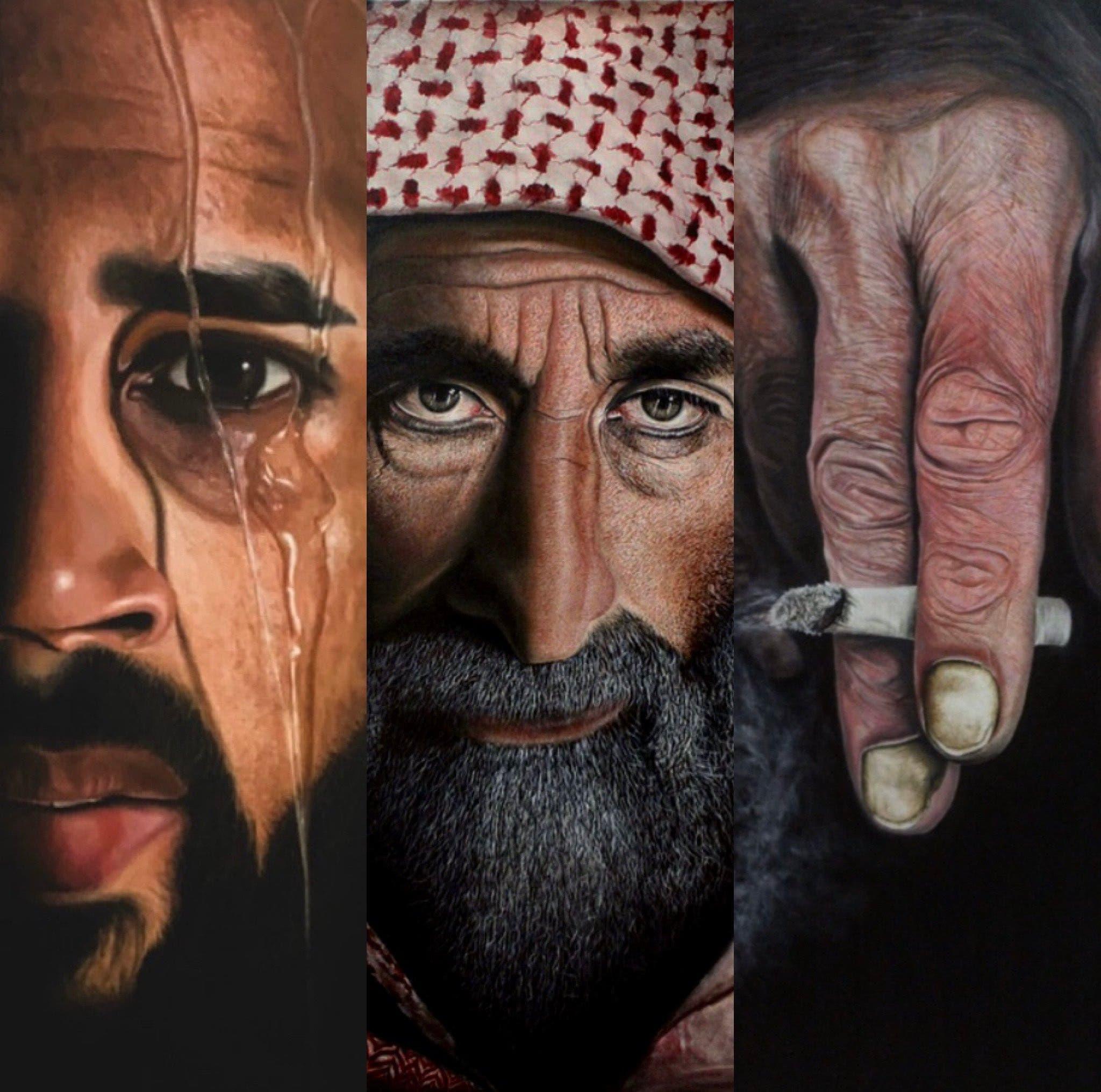 من لوحات الفنان طارق السهلي
