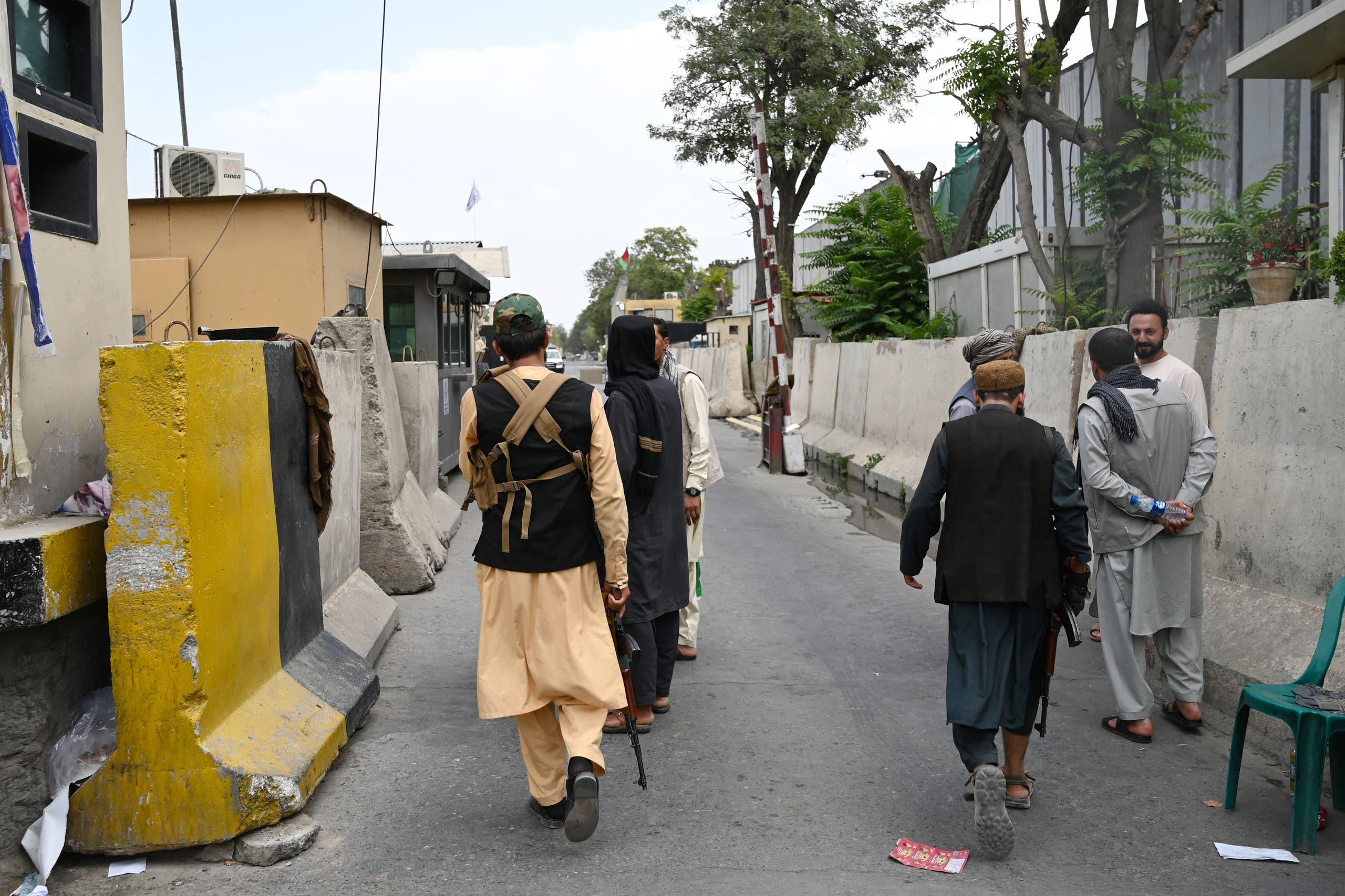 دورية لعناصر من طالبان في كابل اليوم