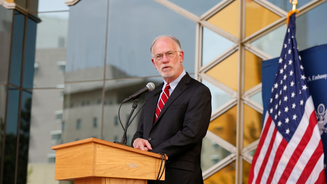 Ambassador Ross Wilson, US Charge D'Affaires, speaks during a press conference at the US Embassy in Kabul on July 30, 2021. (File photo: Reuters)