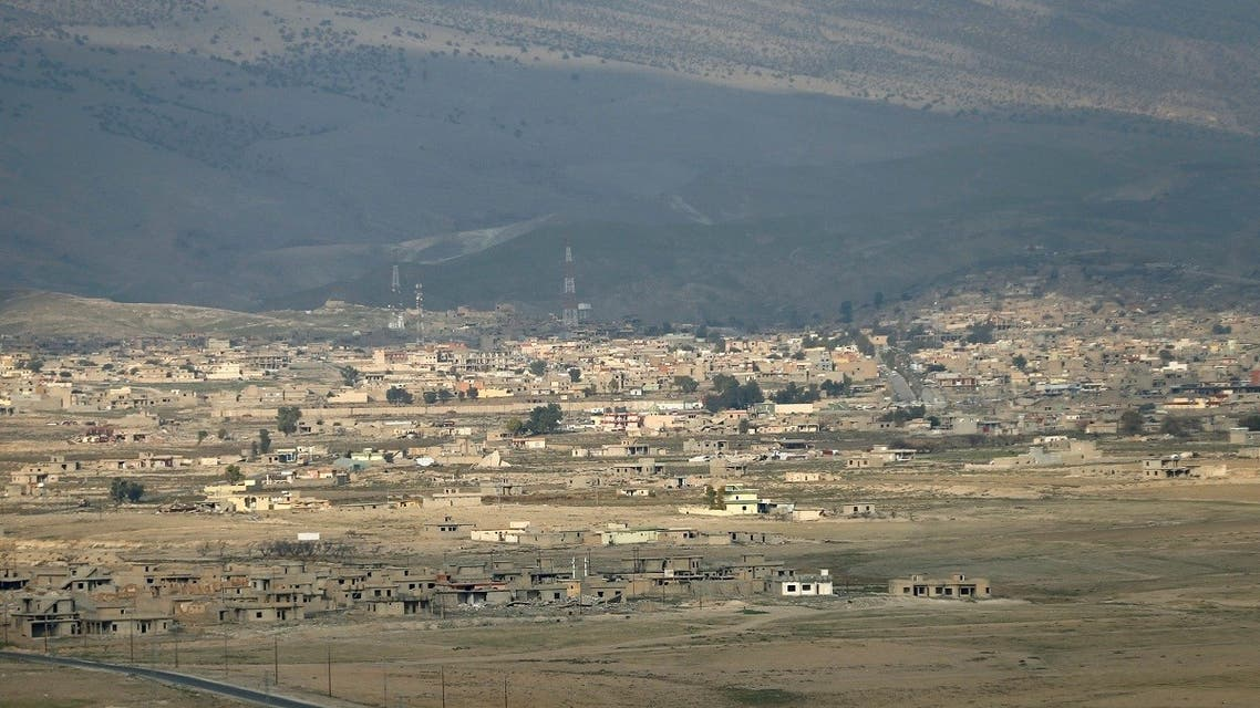 An aerial view shows Sinjar, Iraq December 1, 2020. (Reuters)